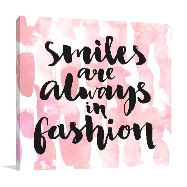 Smile Always Prints Canvas