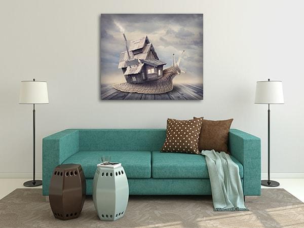 Snail Sweet Home Canvas Prints