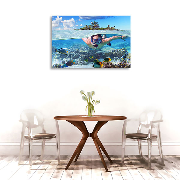 Snorkeling Prints Canvas