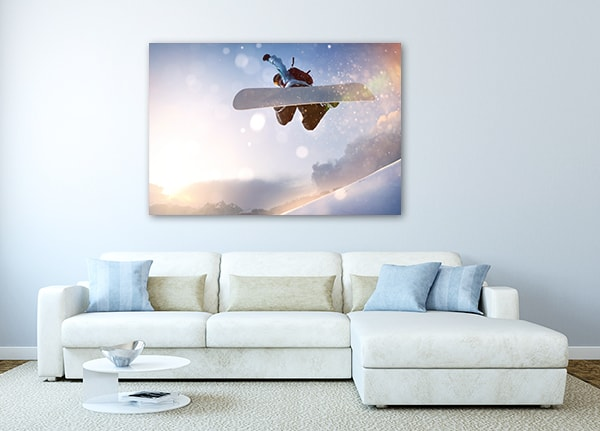 Snowboarding Artwork on the Wall