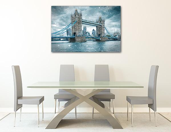 Snowfall London Bridge Canvas Prints