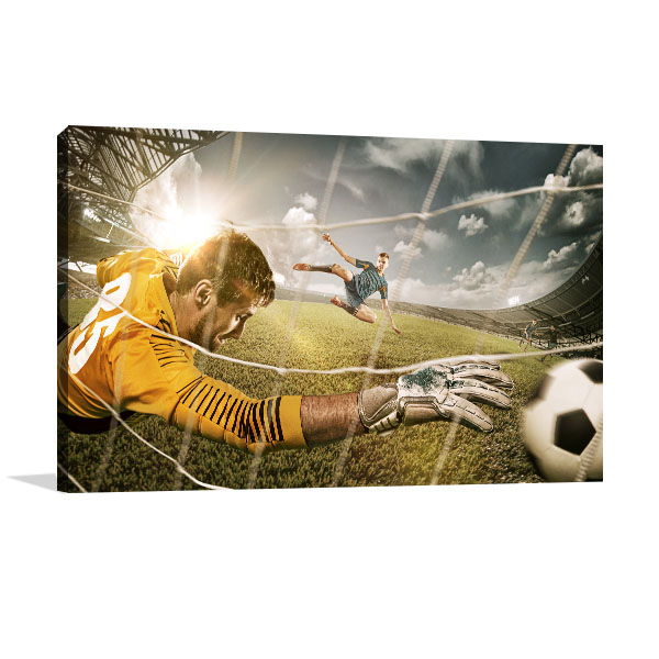 Soccer on Play Canvas Art Prints