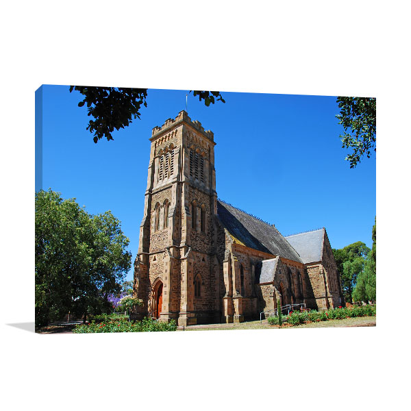 South Australia Art Print Gawler Church Photo Canvas