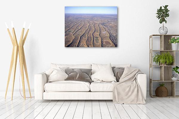South Australia Art Print Innamincka Aerial Artwork Picture