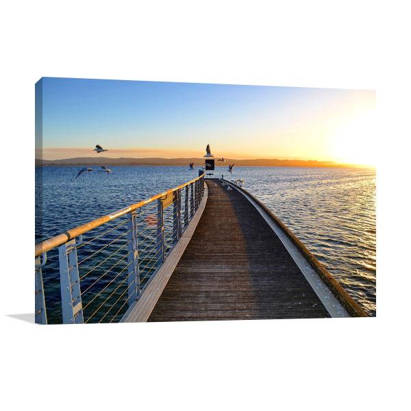 South Australia Canvas Print Fowlers Bay Jetty Photo Artwork