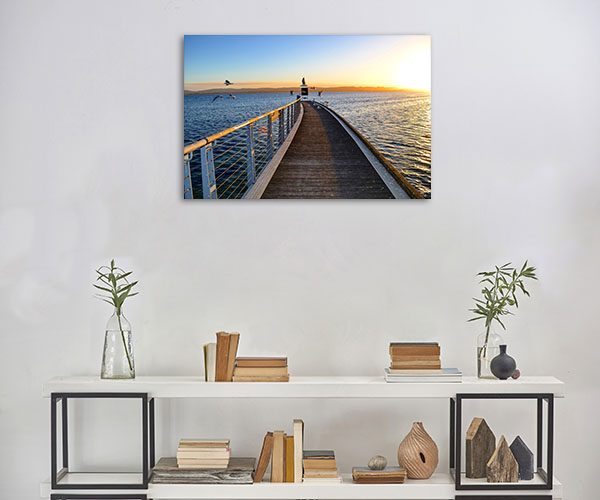 South Australia Canvas Print Fowlers Bay Jetty Art Photo