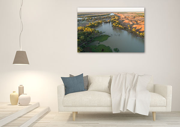 South Australia Paringa Art Print Murray River Wall Canvas