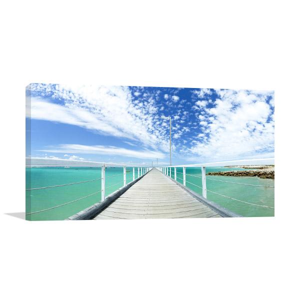 South Australia Wall Art Print Beachport Jetty Photo Canvas