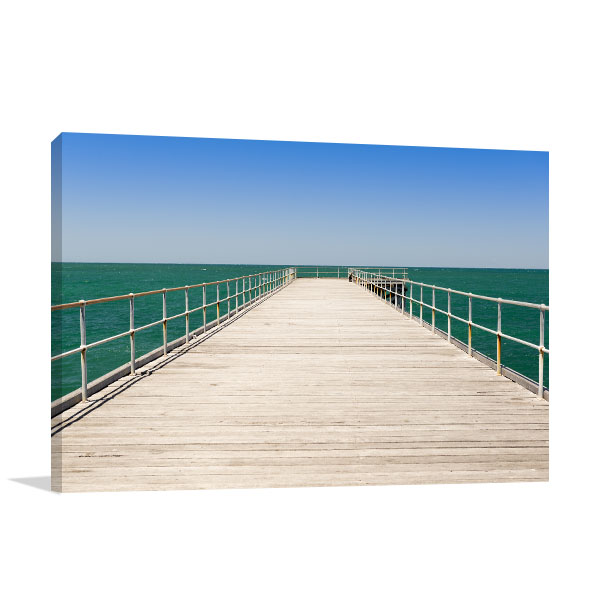South Australia Wall Art Print Stenhouse Bay Jetty Canvas Photo