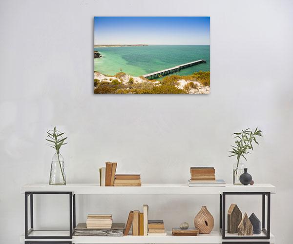 South Australia Wall Print Stenhouse Bay Jetty Canvas Photo