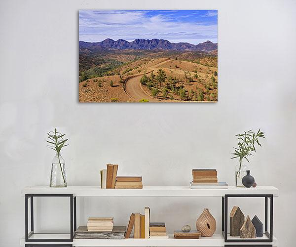 South Australia Wall Print Wilpena Pound Artwork Canvas