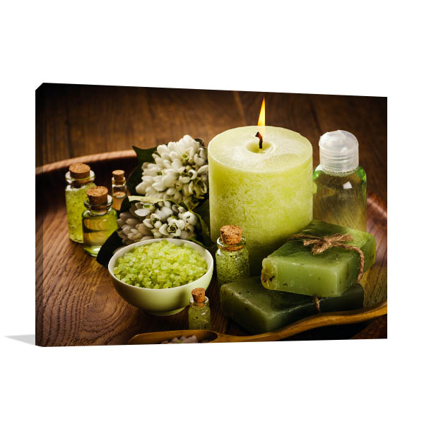 Spa Green Aromatic Canvas Art Prints