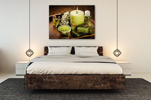 Spa Green Aromatic Prints Canvas