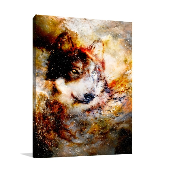 Space Wolf Canvas Prints