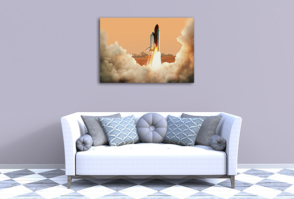 Spacecraft Takes Off Canvas Prints