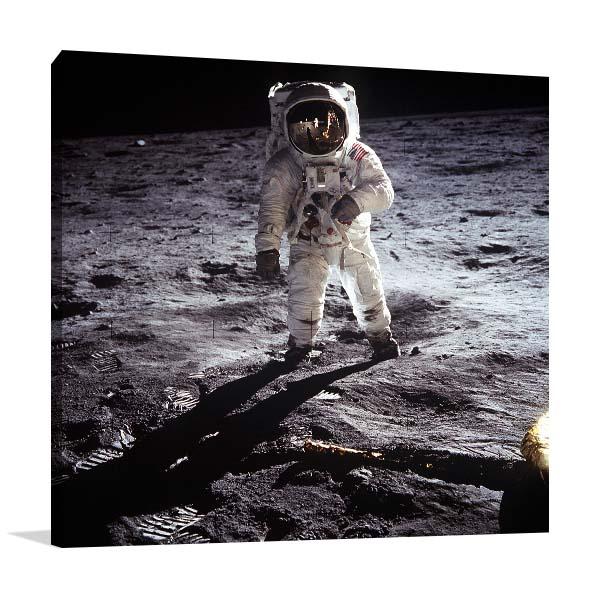 Spacewalk on Moon Canvas Prints