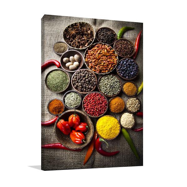 Spice Still Life Canvas Art