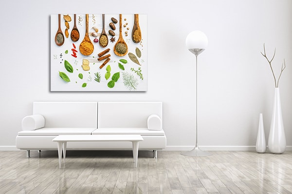 Spices On Spoon Print Artwork
