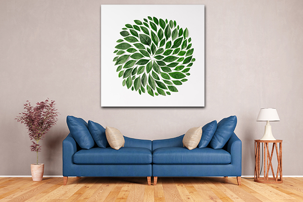 Spiral Leaves Canvas Art