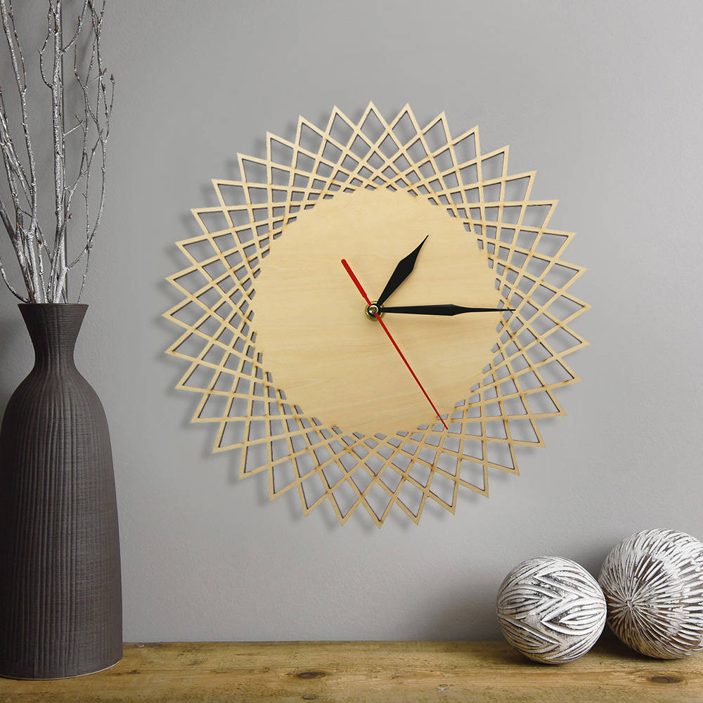 Spiral Wooden Clock Wall Decor Melbourne