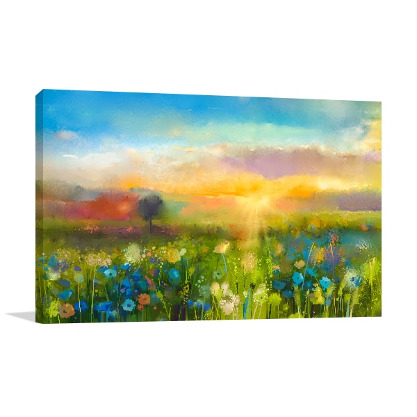 Spring Flower Field Print Artwork