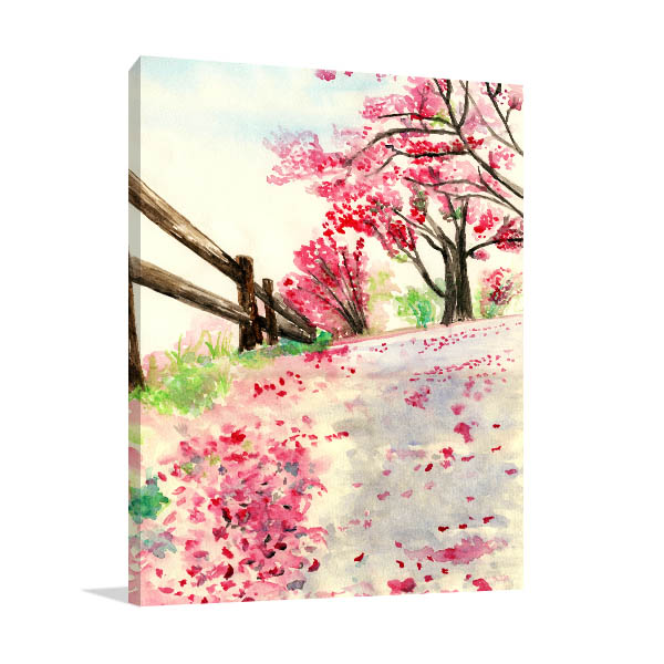Spring Flowers on Ground Wall Art