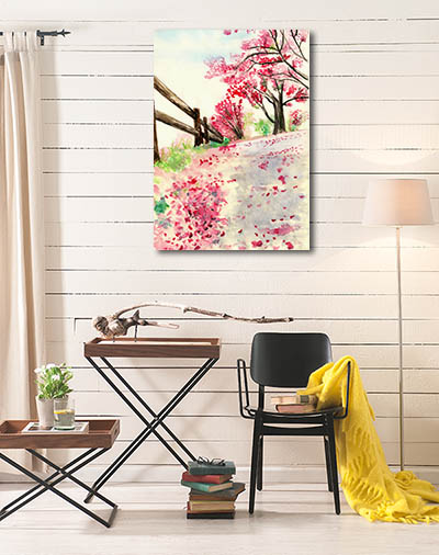 Spring Flowers on Ground Prints Canvas