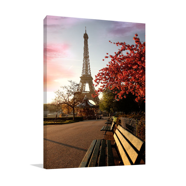 Spring Morning Eiffel Tower Canvas Art