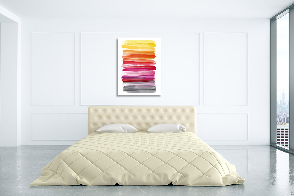 Abstract Contemporary Print on Canvas