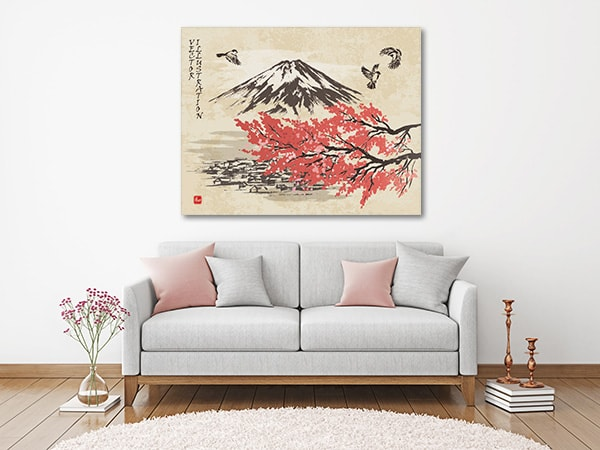Spring Oriental Wall  Art Print on the Wall