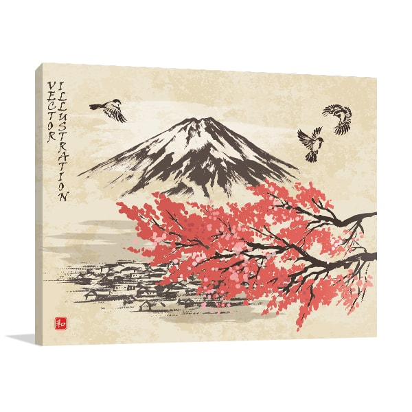 Spring Oriental Print Artwork