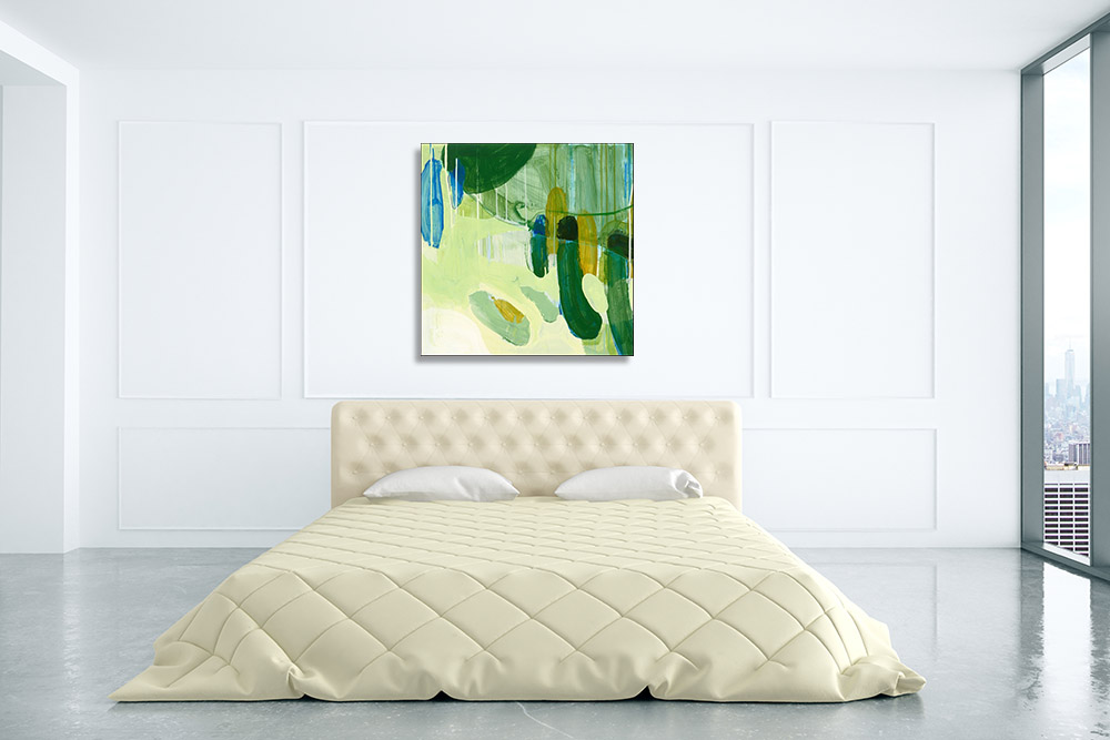 Contemporary Abstract Green Print