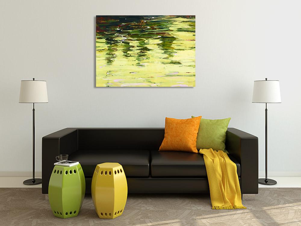 Yellow Landscape Canvas Print