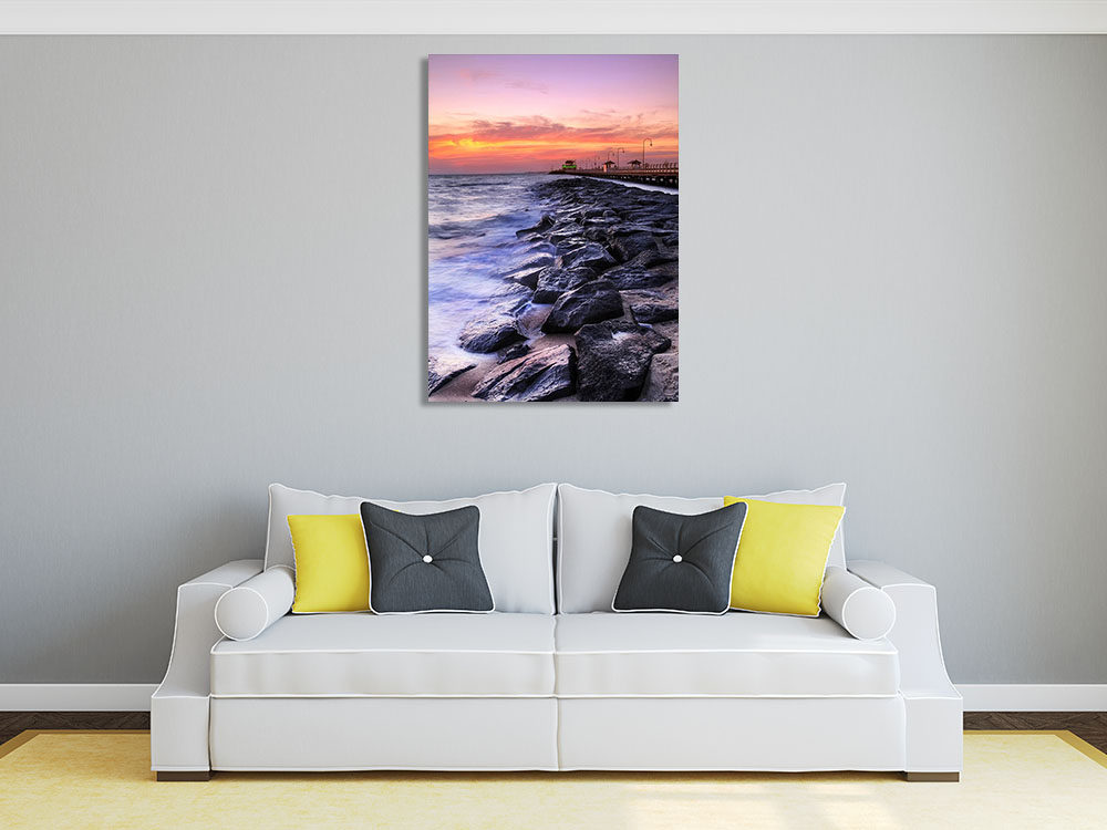 Coastal Photography Print on Canvas