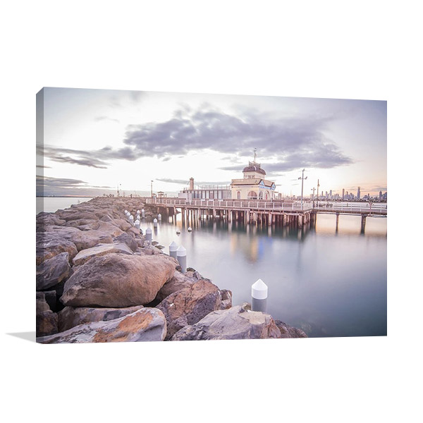 St Kilda Pier Melbourne | Wall Canvas Print