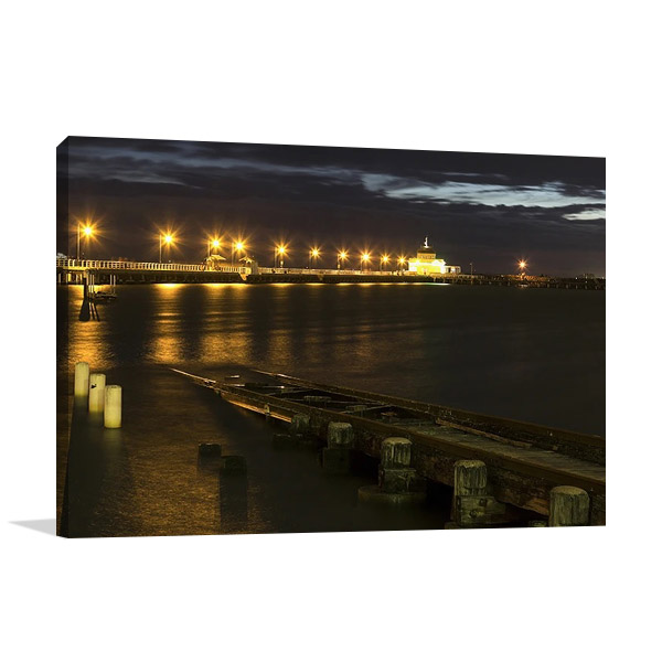 St Kilda Pier Night Lights | Print on Canvas