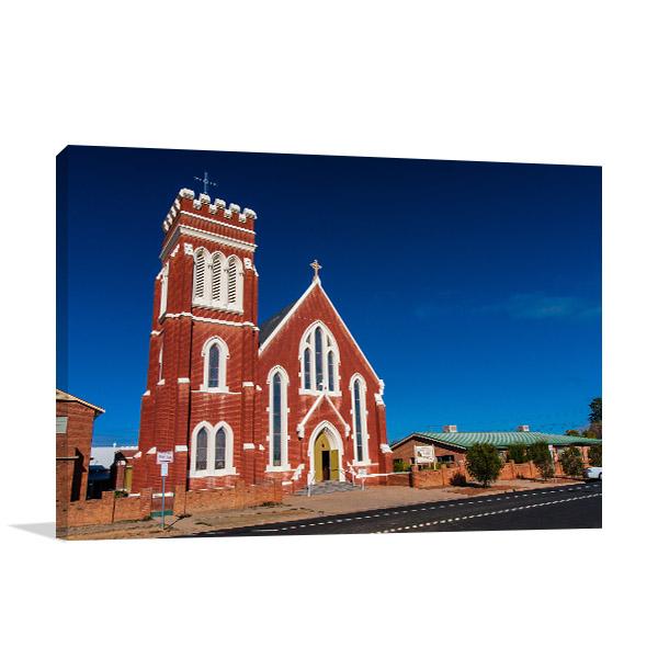 St Laurence Church Canvas Print NSW Cobar Wall Art