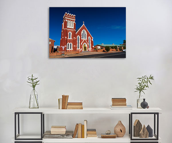 St Laurence Church Canvas Print NSW Cobar Wall Artwork