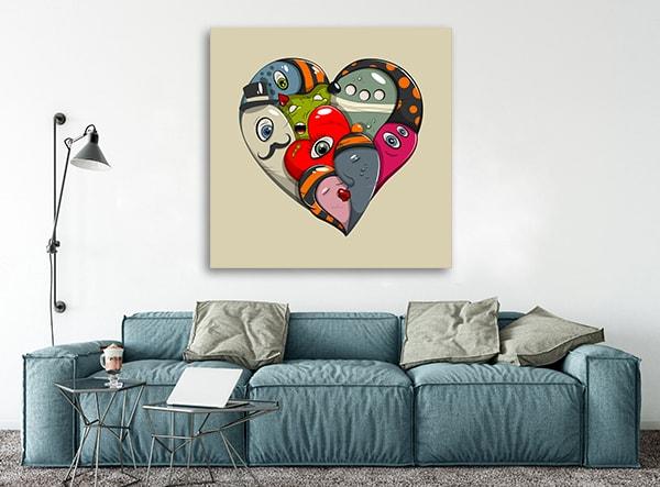 St. Valentine's Prints Canvas