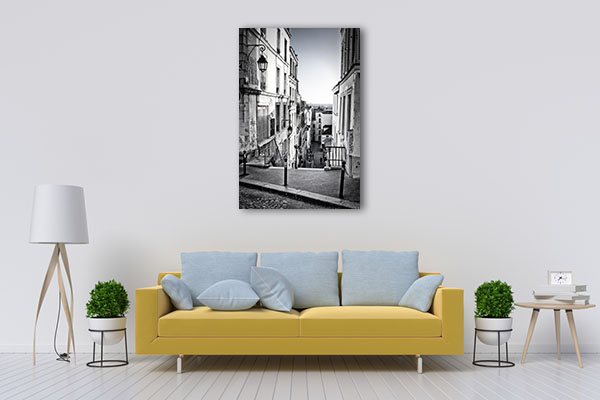 Staircase in Montmartre Hill Canvas Prints
