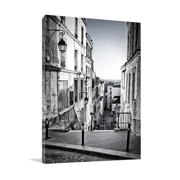 Staircase in Montmartre Hill Canvas Art Prints