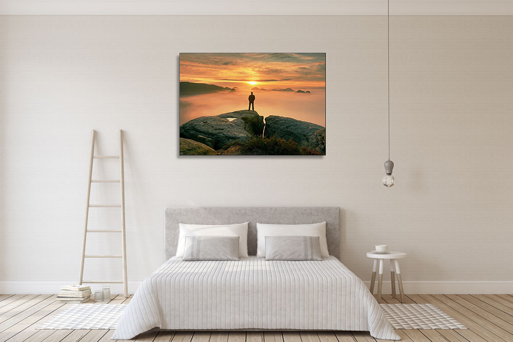 Canvas Print Orange Landscape