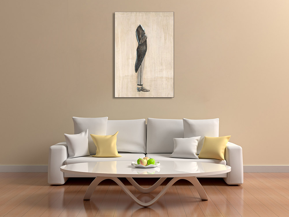 Brown Figurative Print on Canvas