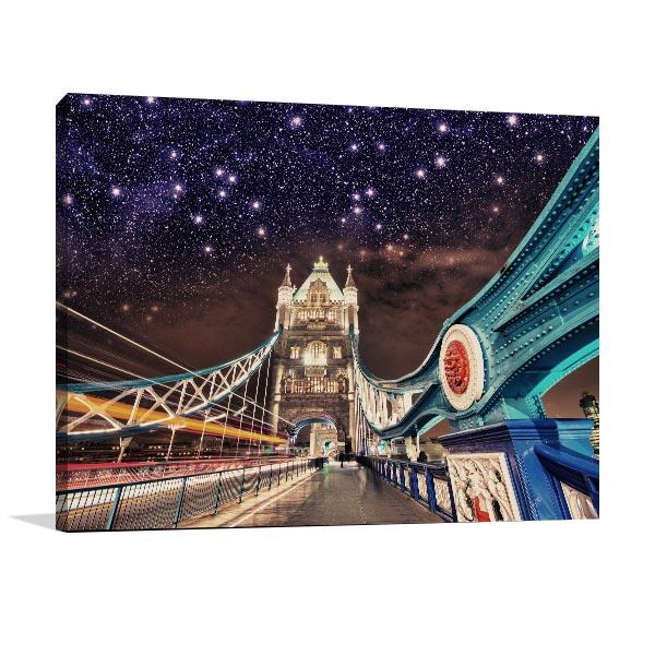 Stars Over Tower Bridge Wall Art