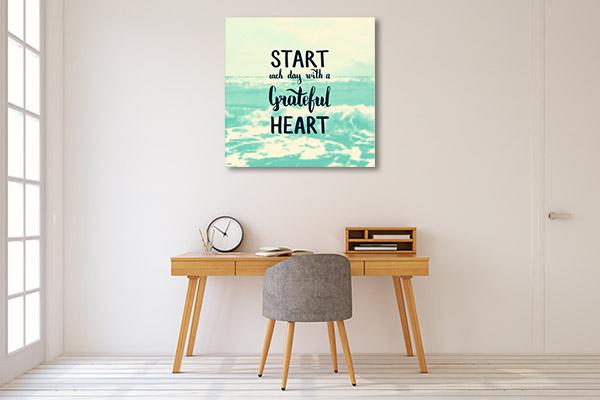 Start Day Grateful Wall Art
