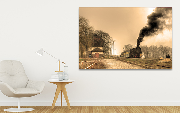 Steamrail Wall Art Print on the wall