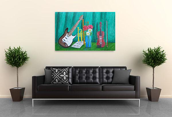 Still Life Music Canvas Prints