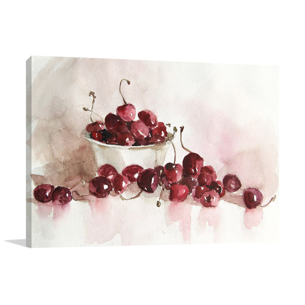 Still Life Of Cherries Art Prints