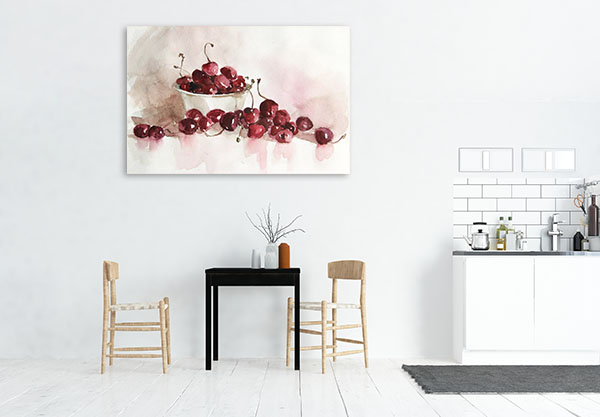 Still Life Of Cherries Prints Canvas