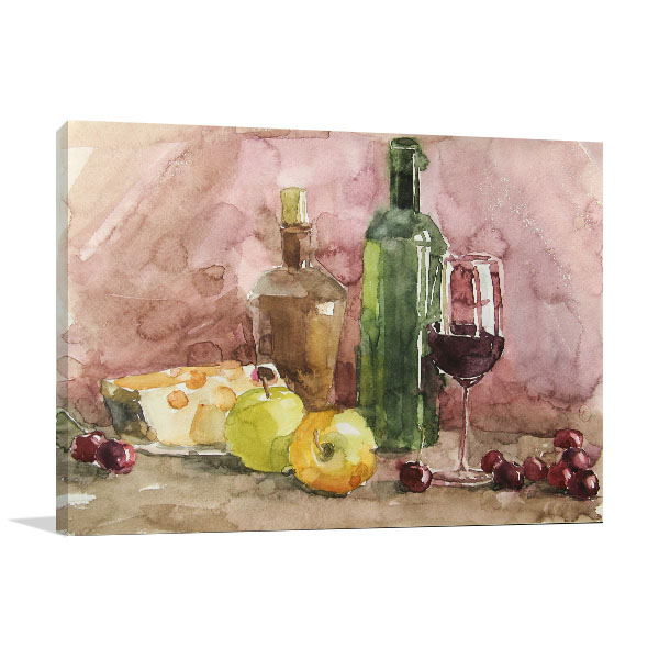Still Life Of Fruits Canvas Art Prints
